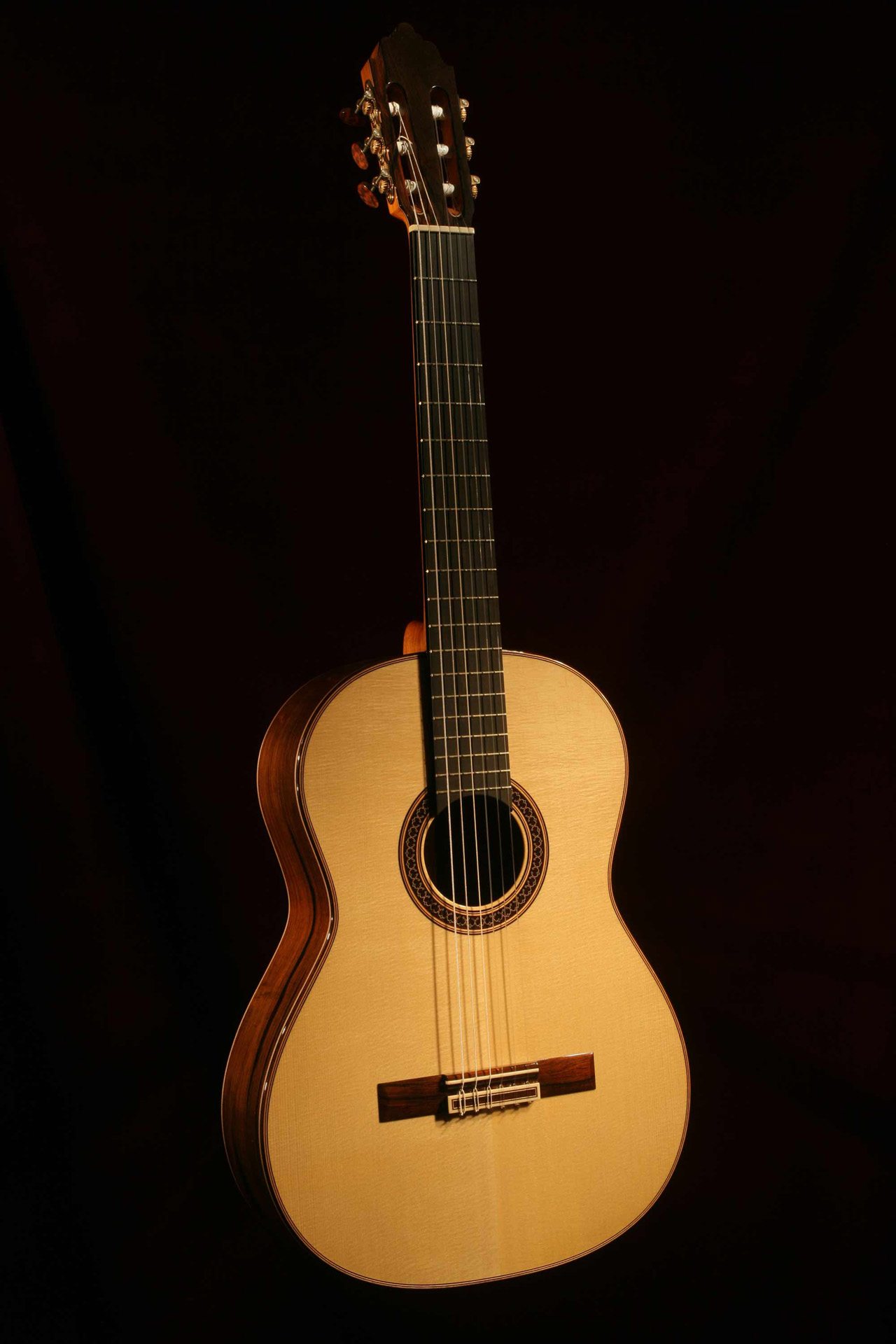 Brazilian Rosewood and Engelmann Spruce Guitar - Front